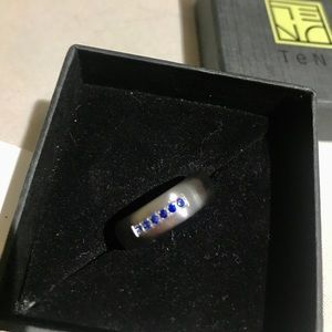 Stainless Steel and Sapphire TENO Ring
